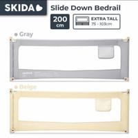Skida 200cm Extra Tall Bedrail Pagar Ranjang Kasur Bayi Bed Guard Rail