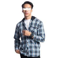Kemeja Flanel Hoodie Pria LINCOLN dengan kupluk