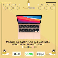 Apple Macbook Air 2020 M1 Chip MGN63 MGN93 MGND3 13 Inch 8GB SSD 256GB