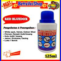 RED BLUEDOX 125ml Obat Ikan Anti Jamur Parasit Bakteri Kuman Dan Luka