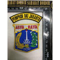 LOGO BADGE EMBLEM BORDIR JAYA RAYA DKI JAKARTA