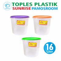 Pamosroom Toples Sunrise 16L Tempat Kerupuk Peyek Toples Sealware 16 L