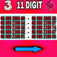 Kartu Perdana TRI Nomor Cantik 11 Digit Tri , Three , 3 Nomer cantik