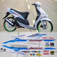 Striping motor mio sporty thailand variasi mio amore putih biru