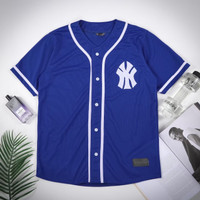 Baju baseball NY biru persib pria wanita