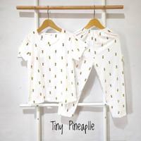 baju tidur piyama anak perempuan 2 4 8 tahun setelan tiny pineapple