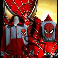 jaket karakter anak spiderman