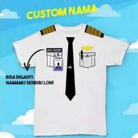 T-shirt Kaos pilot pesawat terbang custom nama anak sampai dewasa