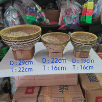 Bakul nasi bambu 22cm