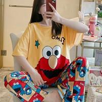Piyama 690 Elmo Import Baju Tidur Panjang Anak Perempuan Remaja Wanita