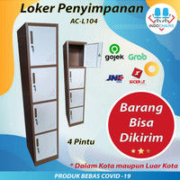 Locker kantor, Locker 4 pintu, locker penyimpanan, AC L104