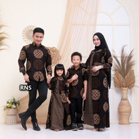 Couple Batik Keluarga Set Baju Batik Keluarga Lebaran Terbaru 004