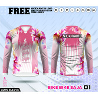 Jersey sepeda perempuan kaos gowes cewek baju bike saja lengan panjang
