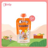 Peachy Mango,sweet potato and carrot puree