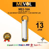 MEVAL 16 LED Bright Emergency Lamp + 0.5W Senter LED