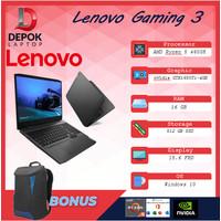 Lenovo Gaming 3 Ryzen 5 4600 16GB 512SSD GTX1650Ti 4GB W10+OHS 15.6FHD