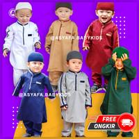 Setelan Koko Pakistan Anak - Baju Gamis Bayi Laki - Biru Navy