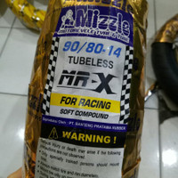Ban Motor Matic Racing Soft Compound Mizzle MR X 90/80 Ring 14 Tubeles