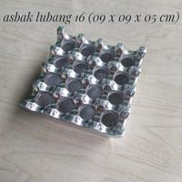 Asbak Lubang 16 Aluminium Ashtray / Asbak Hotel