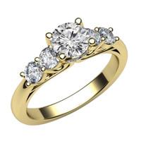 1901 Jewelry Cincin Berlian Swarovski Lapis Emas Bezel