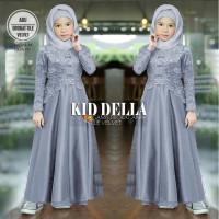 Baju Maxi Dress anak Perempuan umur 8-11 tahun Della kid Pakaian dres