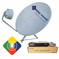 paket antena parabola Indovision lengkap