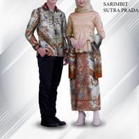 bahan batik tulis sarimbit sutra atbm putih - all size
