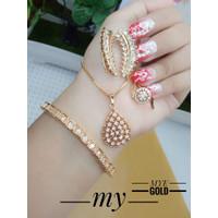set perhiasan xuping lapis emas 24k wanita dewasa termewah & tercantik