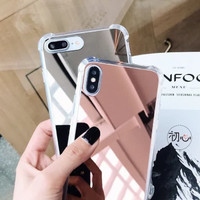 Anti Crack Casing Mirror Kaca iPhone XS MAX Casing Anti Crack Cermin