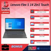 Lenovo Flex 5 14 2in1 Touch Ryzen 3 4300 4GB 256ssd Vega3 W10 14.0FHD