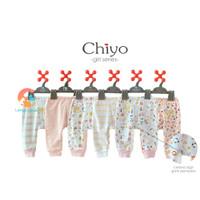 CHIYO 3pcs Celana Panjang Bayi Motif 0-3 Bulan ( GIRL SERIES )