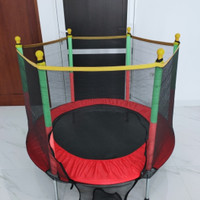trampoline trampolin anak 55  ( 140 cm ) - Biru - Merah