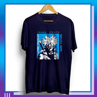 Baju Kaos Distro Pria Tshirt Cowok Kekinian Keren Trunks Time Traveler - Blue Navy, L
