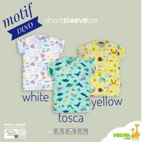 Short Sleeve Tee VELVET JUNIOR Kaos Oblong Baju Atasan Harian Bayi
