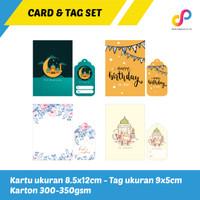 KARTU UCAPAN & HANG TAG SET   BLANK GREETING CARD / LEBARAN / BDAY