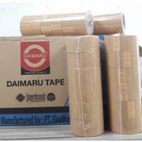 Lakban Daimaru coklat/bening 2 original 48 mm x 90 yard - Cokelat