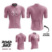 Kaos Jersey Sepeda Wanita Gowes Cantik RoadBike dryfit FullPrint BAD30
