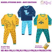 Kazel Piyama Boy Bat Edition Baju Tidur Anak Isi 3 Pcs