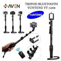 AVEN - Tongsis Bluetooth Yunteng YT1288 Selfie Stick Monopod + Remote