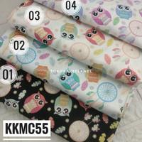 KKMC55 Kain / Bahan Katun Jepang Motif Owl