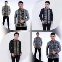 Baju Koko Pria Modern Murah Lengan Panjang Terbaru 2021 Elegan Cassual