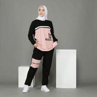 Baju Setelan Olahraga Wanita Muslim One Set Sport