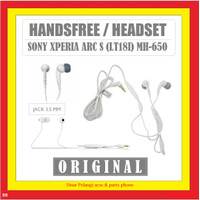 SONY XPERIA ARC S LT18I MH-650 3.5MM WHITE HEADSET HF ORI 100% 902149