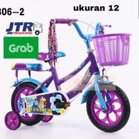Sepeda Mini Centrum Anak Perempuan Ban Mati/Sepeda Murah ukuran 12inch