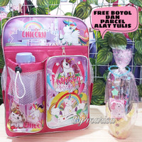 tas anak perempuan unicorn ransel Tas sekolah anak Bonus parcel