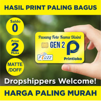 Kartu Flazz Gen2 Custom Print 2M E toll E-toll Etol BCA saldo 0 Gen 2