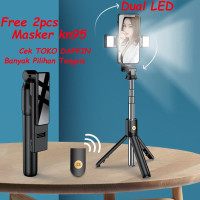 Tongsis Bluetooth Selfie Dual LED Tongsis Tripod Bluetooth NEW VERSION