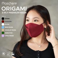 Maschere Masker Kain Origami - 3 Ply - Putih