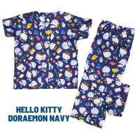 Piyama Anak / Baju Tidur Anak Perempuan Hello Kitty Doraemon Navy