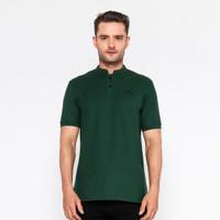 Kaos Pria Lengan Pendek Polo Shirt Cogen Basic Polos Baju Cowok - Gen Green, M
